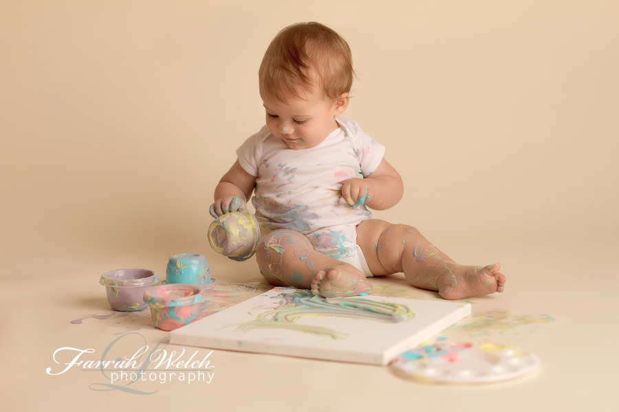 santa clarita photographer yogurt painting session