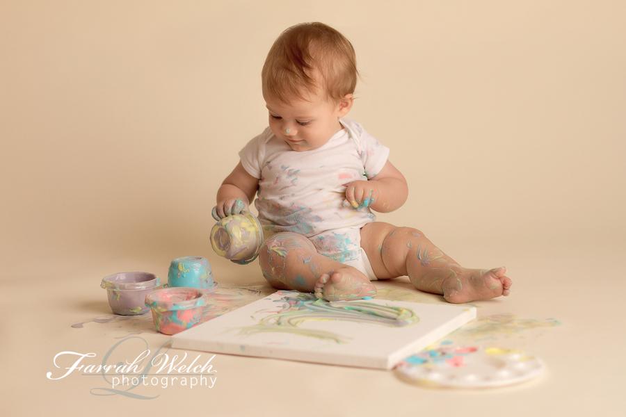 santa clarita photographer yogurt painting session